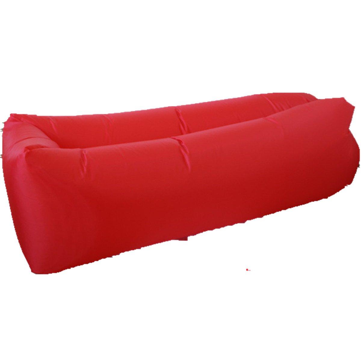VADOO ビーチシートバッグ 膨張式エアーソファーシートバッグ 至福の空気式寝袋 アウトドア B071F7CVFN  レッド