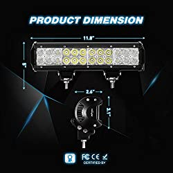 LED Light Bar Nilight 12 Inch 72W LED Work Light S