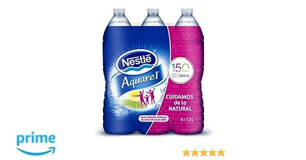 Nestlé Aquarel Agua Mineral Natural - Pack de 6 x 1,5 l - Total: 9 l: Amazon.es: Amazon Pantry