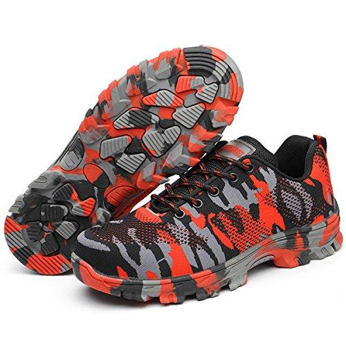 Sicurezza Lavoro Punta Suadeex Antinfortunistiche Stile Acciaio Scarpe Con Da Sneaker Uomo Sportive adulto In Unisex Di 07 Donna rosso S1 I0xXZ0