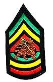 Black Jah Army Reggae Ska Rasta Iogo Band Music Heavy Metal Punk Rock Logo iron on sew on patch Jacket T Shirt Patch Sew Iron on Embroidered Symbol Badge Cloth Sign Costume