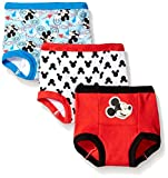 Disney Little Boys' Toddler Mickey 3 Pack Training Pant, Assorted, 3T