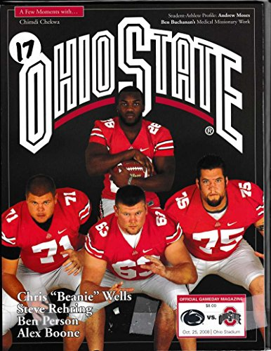 2008 Ohio State University Football Prog Vs Penn St 10/25/2008 Beanie Wells 39