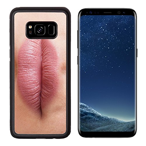 Luxlady Premium Samsung Galaxy S8 Aluminum Backplate Bumper Snap Case IMAGE ID 31283909 close up of a pair of female lips