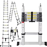 EN131 16.5FT Aluminum Telescoping Telescopic Extension Ladder Tall Multi Purpose TKT-11