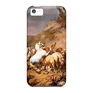 Ysp17944yVlx CaroleSignorile Awesome Cases Covers Compatible With Iphone 5c - Wolves Attack Horses