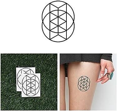 Tatuaje Temporal Tattify - Círculo Agradable - Cita (Juego de 2 ...