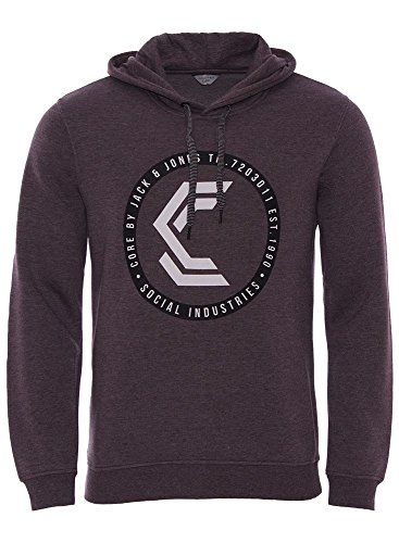 CORE by JACK & JONES Herren Hoodie lila XL