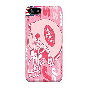 Scratch Protection Hard Phone Case For Iphone 5/5s (VqP333dSIA) Unique Design Trendy New York Jets Skin