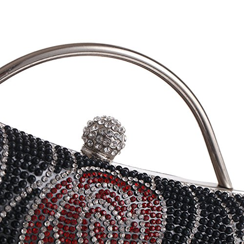 De à Bandoulière Messenger Sac Pochette à Dinner Diamond Main Sac Sac Black Dames Sac Soirée Fashion Banquet TOTq6d