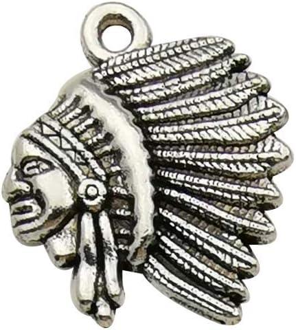YoudiylaUK 60 colgantes de plata envejecida para hacer collares y pulseras Lobster buckle