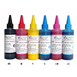 PrintPayLess Brand Archival, Water and Fade Resistant Pigment Ink for Epson 79 (non-OEM) CIS/CISS or refillable cartridges using in Epson Printers: Photo 1400, R1400, Artisan 1430 Printers - 600 ml (2