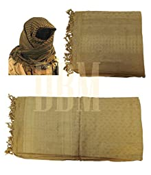 Military Shemagh Tactical Arab Desert Keffiyeh Scarf Head Wrap Coyote Tan