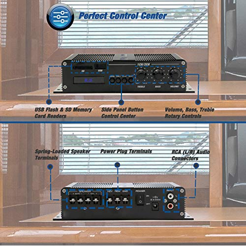 4 2 Channel Bluetooth Audio Marine Amplifier