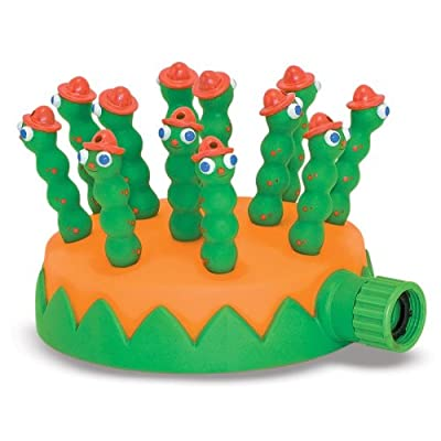 Melissa & Doug Sunny Patch Grub Scouts Sprinkler Toy With Hose Attachment: Melissa & Doug: Toys & Games