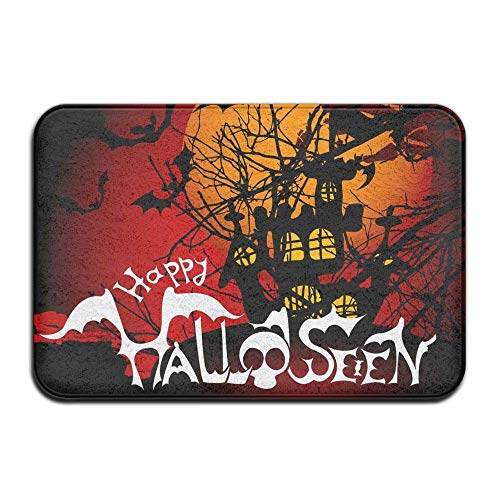 QWENG Non-Slip Easy Clean,Comfortable,Elegant Doormat Scary Halloween Outdoor Rubber Doormat Front Door Duty Outside Shoes Scraper Floor Door Mat Porch Garage High Traffic Non Slip E ()