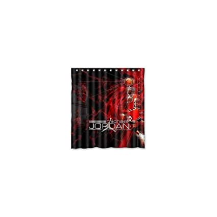 GCKG Polyester One Side Print Decorate Michael Jordan Shower Curtain Customized W66quot