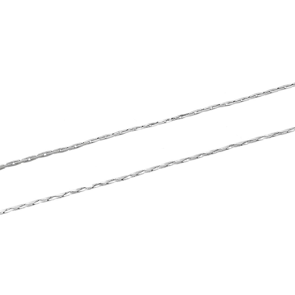 SiAura Material 20m cha/îne for/çat//Bijoux Cha/îne Fine 0,7X 0,6cm Argent