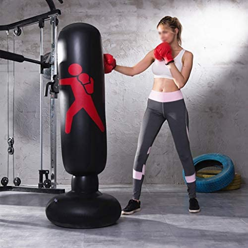 per Il Kickboxing Muay Thai Karate,120cm//47.2inch Sospeso Sacchi di Sabbia con Catena Girevole A 360 /° Robusto Sacco da Boxe da Boxe Borsa da Boxe Fitness Sacco da Boxe da Boxe