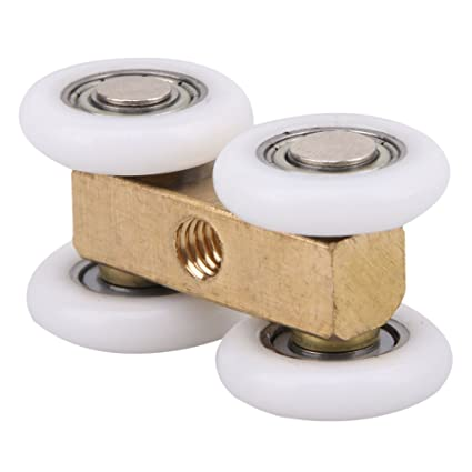 2 Pcs Four-wheeled Door Sliding Roller Pulley Hanging Round For ...