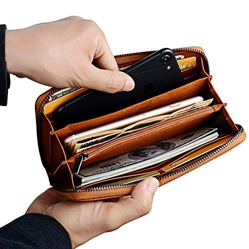 Amazon.com: Billetera para hombre de piel auténtica, con ...