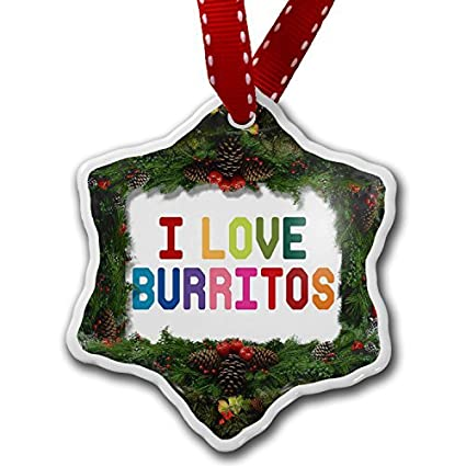 Christmas Ornament I Love Burritos, Colorful - Amazon.com: Christmas Ornament I Love Burritos, Colorful: Home & Kitchen