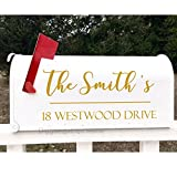 Set of 2 Personalized Family Name Address Decal For Mailbox Front Door Decor Mailbox Sticker Home Decor (6.5''h x 15''w PLUS FREE WELCOME DOOR DECAL)