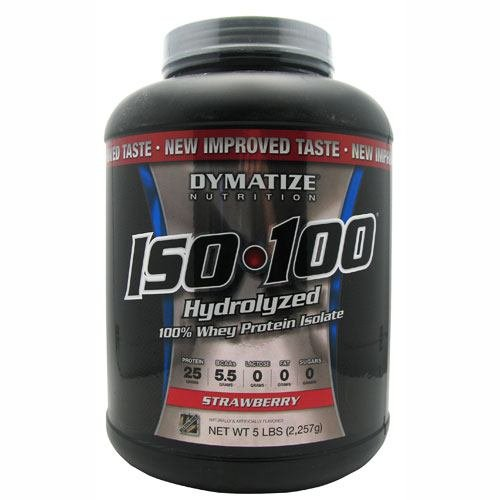 Dymatize ISO 100 Post Workout and Recovery Supplements, Strawberry, 5 Pound (Pack of 6) by Dymatize