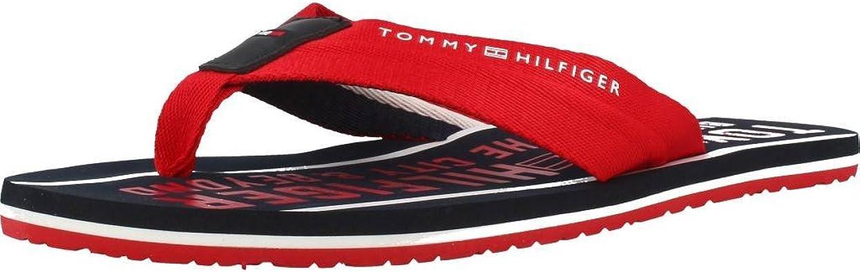 Chanclas Tommy Hilfiger Smart TH Rojo 45 Rojo: Amazon.es: Zapatos y complementos