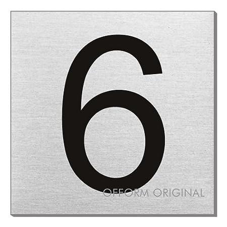 OFFORM Acero Inoxidable - Pictograma/puerta cartel Número