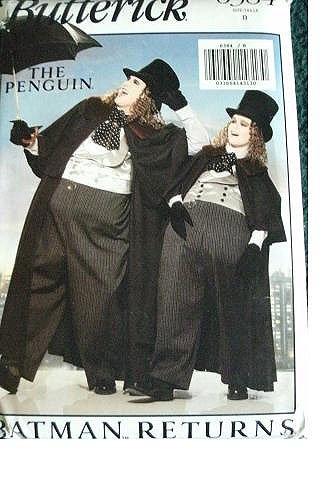 Butterick 6384 Sewing Pattern Batman Returns The Penguin Boys Costume