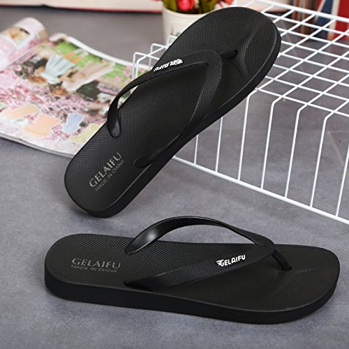 Slip Anti Outdoor and Slippers That Leaks 44 Drag Cool B The Stylish Lovely Summer fankou and Black Soft Breathable Beach Casual Simple Wear Female Shoes XYxq76