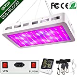 1200W LED Plant Grow Light, WAKYME Adjustable Full Spectrum Double...