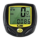BabyGo Wireless Bike Computer Waterproof Cycle Speedometer Automatic Wake-up Backlight for Tracking Riding Speed and Distance Meter