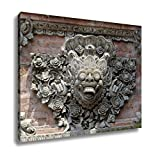 Ashley Canvas, Stone Carved Ornament Of The Balinese Temple, 20x25