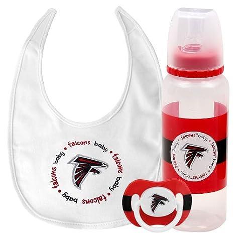 new styles 1a10b e6432 Amazon.com: NFL Atlanta Falcons Infant 3-Piece Bottle, Bib ...
