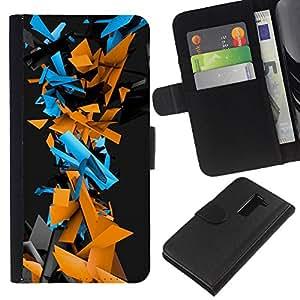 LECELL--Cuero de la tarjeta la carpeta del tirón Smartphone Slots Protección Holder For LG G2 D800 -- Patrón Geometría abstracta del Cyber --