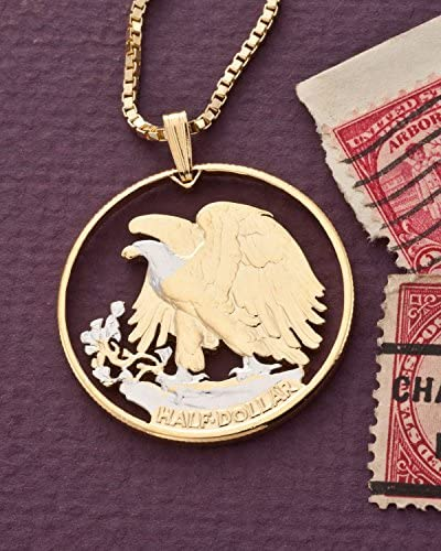 Eagle Wooden Dollar Necklace