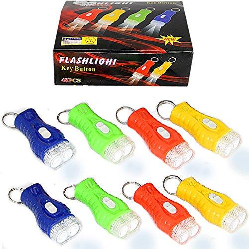 German Trendseller® - 12 x Kinder LED Taschenlampen ┃ Sehr gute Leucht-Kraft ┃ 12 x Minitaschenlampe ┃ Nachtwanderung ┃ Kindergeburtstag