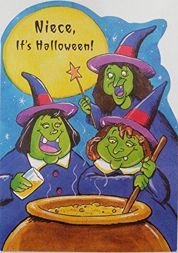 Niece - It's Halloween! Greeting Card