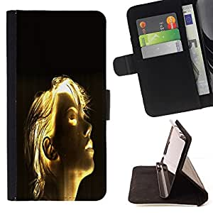 BETTY - FOR Sony Xperia Z1 L39 - Shining Girl Sci Fi - Style PU Leather Case Wallet Flip Stand Flap Closure Cover