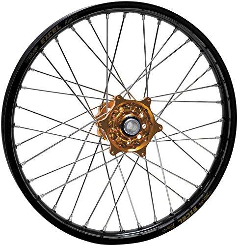 Talon Complete Rear Wheel - Orange Talon Hub/Black Excel Takasago Rim - 2.15x19 , Position: Rear, Color: Orange, Rim Size: ()