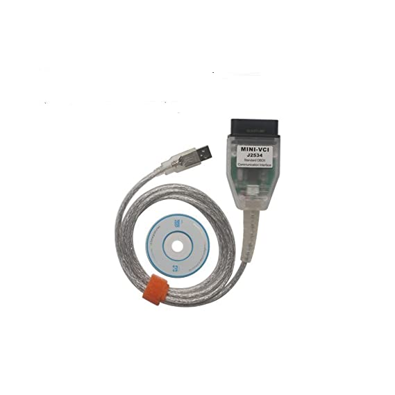 Yueku Mini VCI J2534 Toyota TIS Techstream Cable 2.0.4 Firmware Car OBD2 Diangostic Cable V13.00.022 (Updated Version)