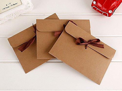 10 sobre de estilo retro de WeMay Sobres para Navidad en blanco tarjetas de felicitaci/ón e invitaciones