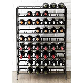 Deluxe 54 Bottle Large Foldable Metal 9 Tier Wine ...