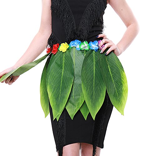 KEPATO Hawaiian Summer Luau Party Dancing Hula Grass Skirt Adult Custume Pack of 1 by KEPATO