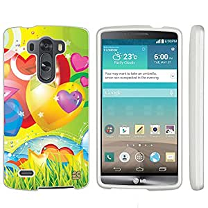 LG G3 Case, Spots8?? Hard Plastic Slim Fit [Balloons on Yellow & LG Green] Case Covers Compatible with LG G3
