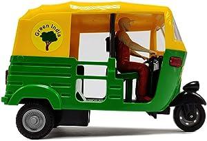 Petrichor Indian Handicraft Famous Auto Rickshaw/TUK TUK/Rickshaw Taxi Model Showpiece Collectible Figurine Home Decoration and Gifting (Multi Colour)