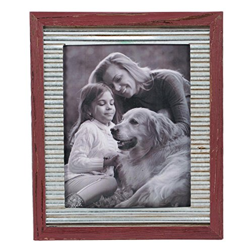 Foreside Home & Garden FFRD06163 8X10 Vista Photo Frame Antique Red from Foreside Home and Garden