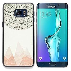 Stuss Case / Funda Carcasa protectora - Resumen Montañas Pastel Stars Sky - Samsung Galaxy S6 Edge Plus / S6 Edge+ G928